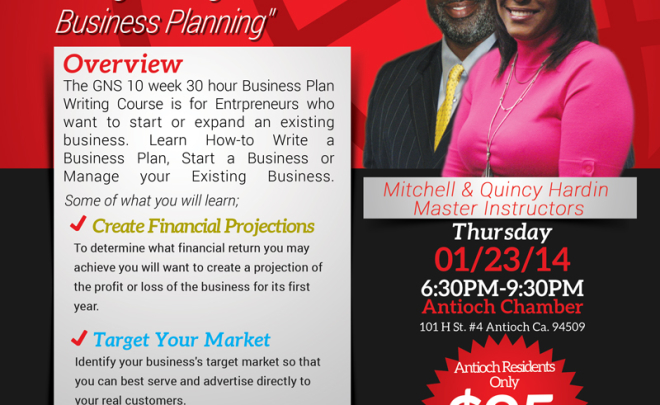 Antioch Business Plan Writing Course 2014