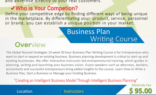 Antioch Business Planning Course-10 weeks